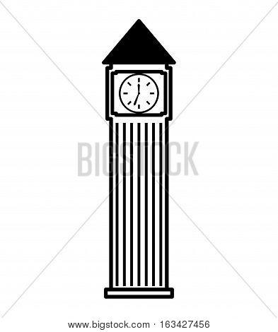 big ben building isolated icon vector illustration design