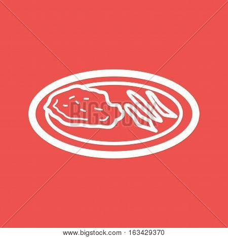 Veal, cutlet, food icon vector image. Can also be used for european cuisine. Suitable for mobile apps, web apps and print media.