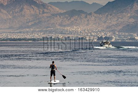 Water sport at the gulf of Aqaba (Red Sea)