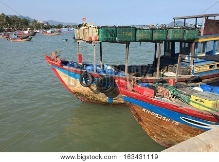 Fishing Boats On The Sea In Vietnam