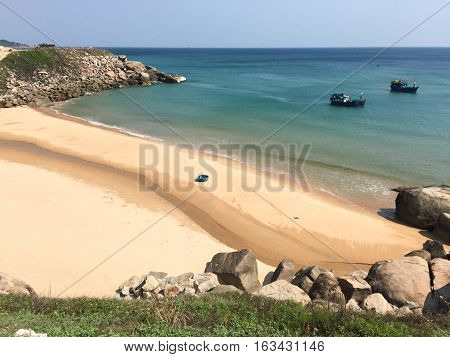 Idyllic Tropical Sea In Sunny Day