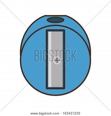 drawing blue sharpener pencil school tool vector illustration eps 10
