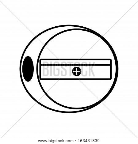 sharpener pencil school tool outline vector illustration 10