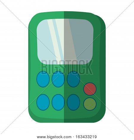 green calculator class supplies school shadow vector illustration eps 10
