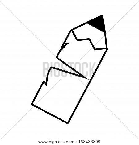 pencil write school broken outline vector illustration 10