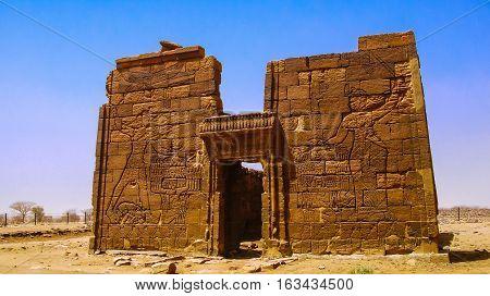 Ruins of Apademak temple Kush civilization Naqa Meroe Sudan