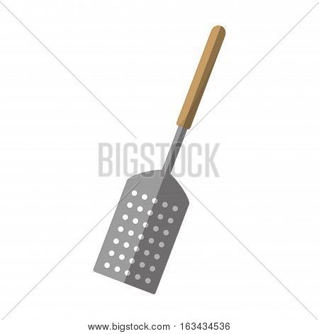 grill spatula kitchen and cooking utensils shadow vector illustration eps 10