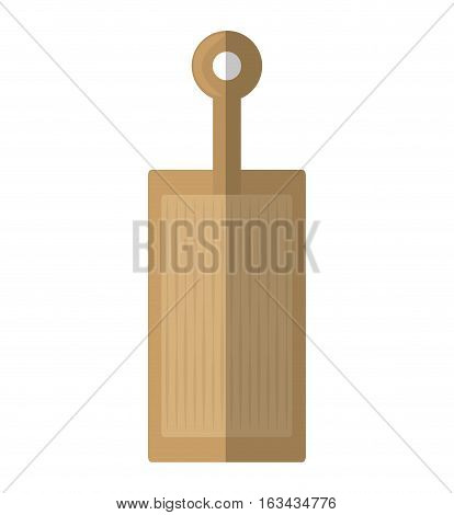 woden cutting board kitchen and cooking utensils shadow vector illustration eps 10