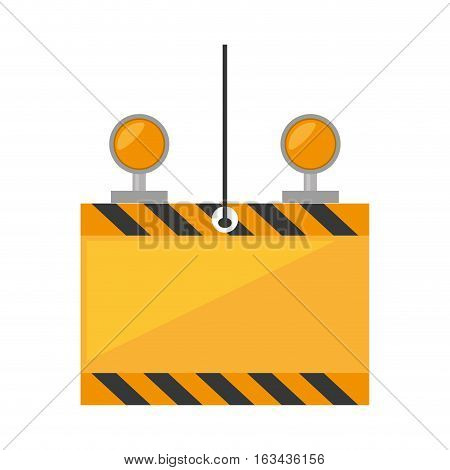 under constuction board hanging cable light vector illustration eps 10