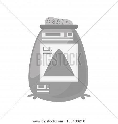 sack cement construction tool vector illustration eps 10