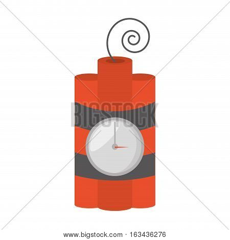 dynamite sticks mining tnt clock vector illustration esp 10