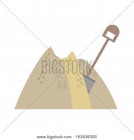 mining mineral sand pile shovel vector illustration eps 10