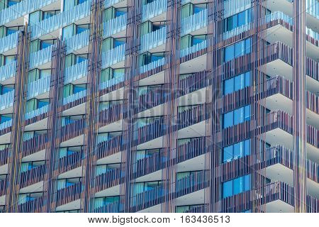 Closeup to some part of condo building in Pattaya Thailand.