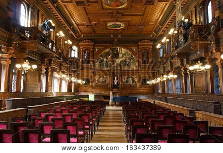 HEIDELBERG, GERMANY - MAR 30, 2014: Theatre of the University of Heidelberg in Germany.