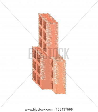 drawing blocks brick construction tool vector illustration eps 10