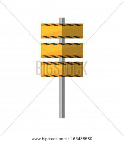 cartoon barrier under construction road vector illustration eps 10