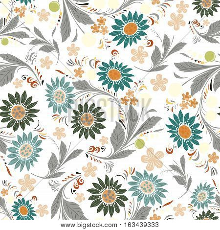 Seamless repeating floral pattern Vector art backdropSeamless repeating floral pattern.Vector