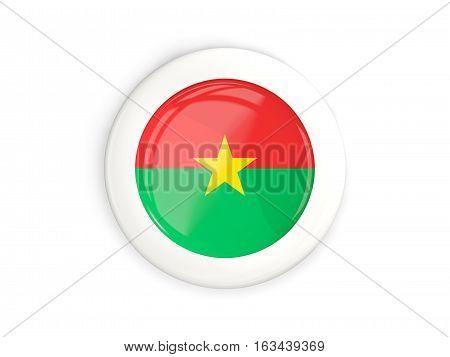 Flag Of Burkina Faso, Glossy Round Button