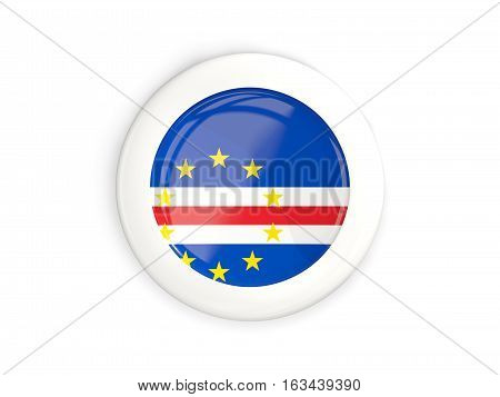 Flag Of Cape Verde, Glossy Round Button
