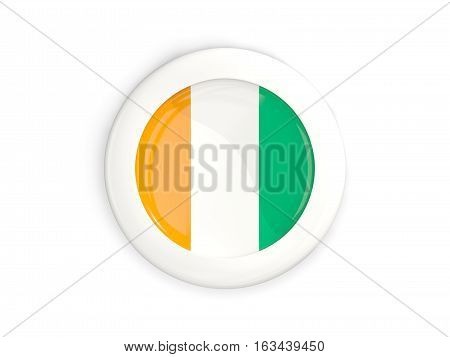 Flag Of Cote D Ivoire, Glossy Round Button