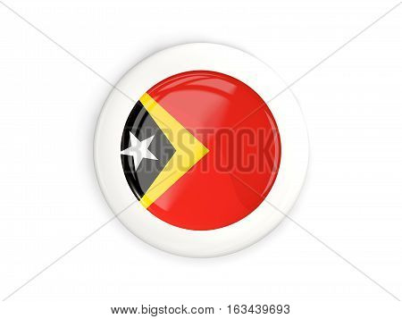Flag Of East Timor, Glossy Round Button
