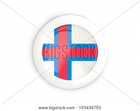 Flag Of Faroe Islands, Glossy Round Button