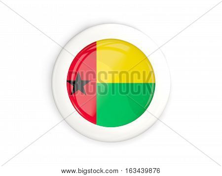 Flag Of Guinea Bissau, Glossy Round Button