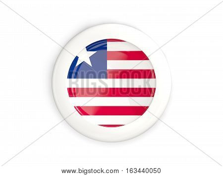 Flag Of Liberia, Glossy Round Button