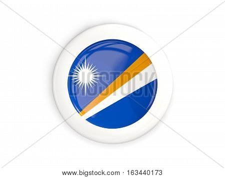 Flag Of Marshall Islands, Glossy Round Button