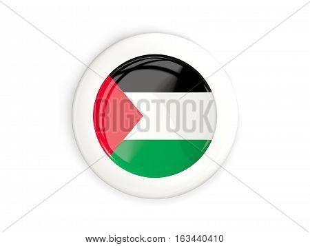 Flag Of Palestinian Territory, Glossy Round Button