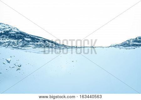Underwater Ocean Scene Strom Blue Water Wave Photography.