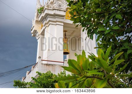Bell tower of Thai temple architecture in Thailand