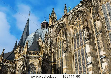South Facade Of The Aachen Cathedral