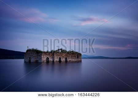 The Blue Hour at Zhrebchevo Dam, Bulgaria