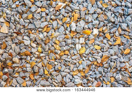 Colorful small pebbles or stone in garden with difference color.