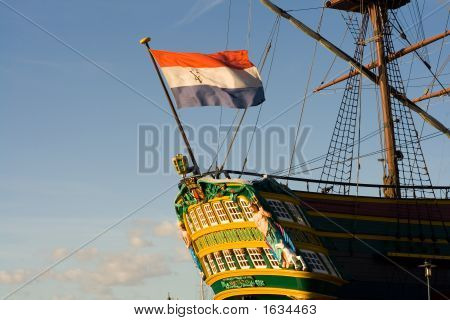 Tall Ship In Dock
