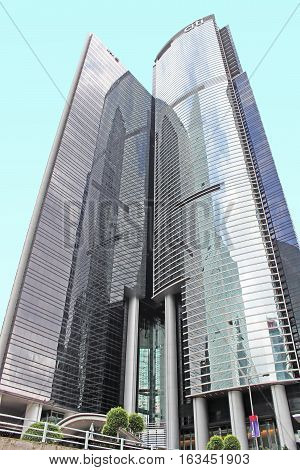 HONG KONG - MAY 15, 2014: Citibank in Hong Kong. Citibank began operations in Hong Kong in 1902 thus becoming the first foreign bank to offer its services there