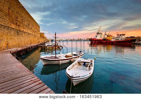 RHODES, GREECE - DECEMBER 05, 2016: World heritage site of the medieval town of Rhodes on December 05, 2016.