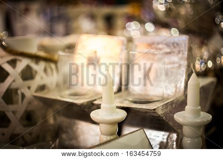 Porcelain Candle Holder With