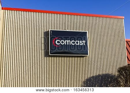 Lafayette - Circa December 2016: Comcast Service Center. Comcast Is A Multinational Mass Media Compa