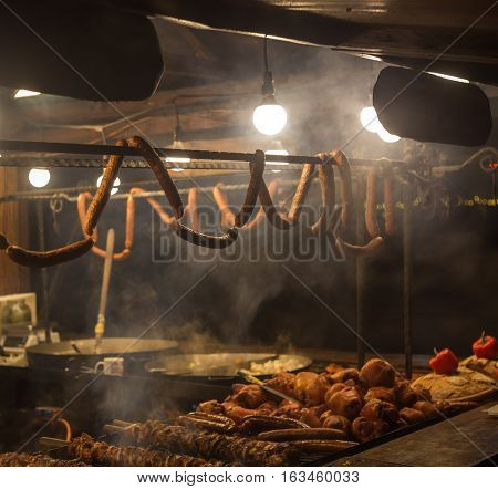 The Counter With Sausage