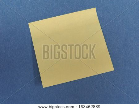 Postit Over Blue With Copy Space