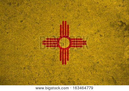 Graphic American State Grunge Flag Of New Mexico