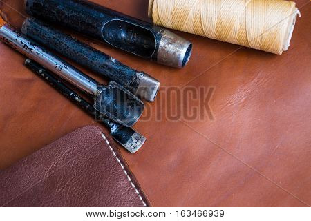 Genuine Leather Craft Object With Tool