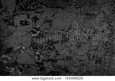 Black Stone Background Grunge Textured High Quality Closeup. May Be Used For Design As Background. C