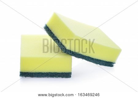 cleaners detergents household cleaning sponge for cleaning isolated on white background