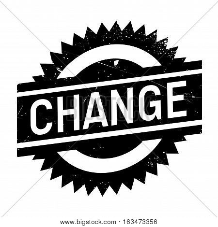 Change stamp. Grunge design with dust scratches. Effects can be easily removed for a clean, crisp look. Color is easily changed.