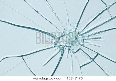 broken glass texture close up