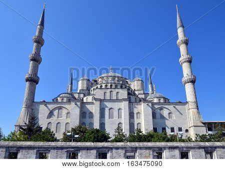 ISTANBUL TURKET OCTOBER 04: Sultan Ahmed Mosque, october 04, 2013 in Istanbul, Turkey. Sultan Ahmed Mosque (Blue Mosque) on of most popular tourist attractions in Istanbul.