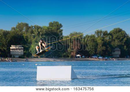 Wakeboarding Big Air Stunt